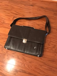 black leather 2-way bag Reston, 20194