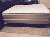 New like queen mattress+box spring+ bed frame Calgary, T3J 5L4
