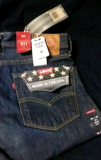 NEW Levi 511 Slim Fit jeans sz 36x32 MADE IN USA!! Stockton, 95215