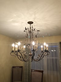 black and white uplight chandelier Crystal Lake, 60014