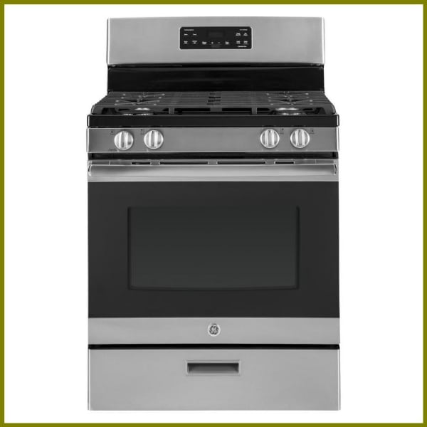 Closeout GE 30 in. 5.0 cu. ft. Gas Range in Stainless Steel JGBS62REKS