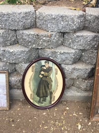 Antique picture and oval frame 1915 Sacramento, 95826