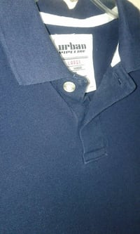 Urban Pipeline navy blue polo boy's sz L Saint Albans, 25177