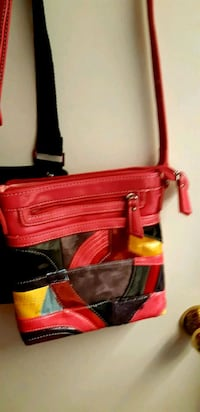 red leather 2-way handbag St. Catharines, L2M 4G1