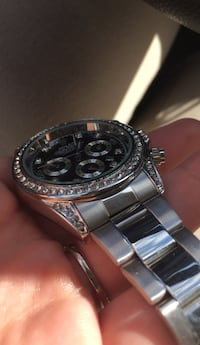 round silver-colored chronograph watch with link bracelet Frederick, 21703