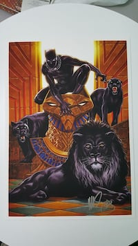 Exclusive signed Black Panther print