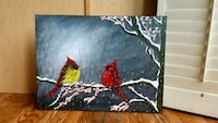 24x18 inches cardinals acrylic painting  Vaughan, L4J 8S3