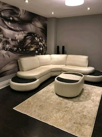 white leather sectional sofa with ottoman Mississauga, L5R 3S3