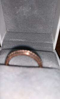 Pandora ring rose gold covered with stomes new size 7
