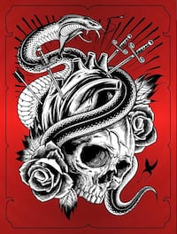 """""""Love is Dangerous"""" Limited Edition Red Foil Print Brant, N0E 1R0"""