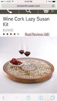 Wine cork lazy susan Brandon, 33511
