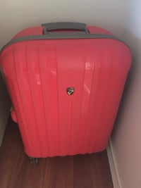Heys suitcase Red and gray hardshell luggage London, N6G