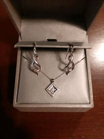 Diamond Necklace and Earrings