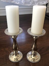 Silver Candle Holders With Bling Trim Mississauga, L5N 5S5