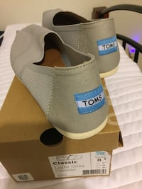 Pair of gray or tan toms slip on shoes Dublin, 31021