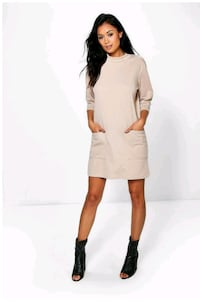 Oversized Pocket Front box, Shift Dress