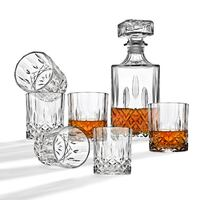BRAND NEW 7-piece Whiskey alcohol decanter and glasses cups set Ventura