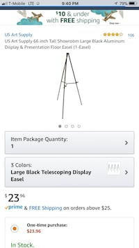 "Floor easel ""brand new"" Valley View, 44125"