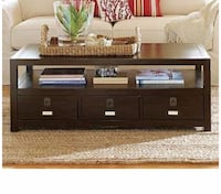 """Pottery Barn Coffee Table """"Rhys"""" Collection Wood  Chevy Chase"""