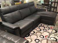 Grey Top grain leather R/S/F sectional sofa North Vancouver, V7P 1S3