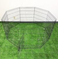 """New $30 Foldable 30"""" Tall x 24"""" Wide x 8-Panel Pet Playpen Dog Crate Metal Fence Exercise Cage Play Pen South El Monte"""