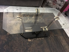 Octagon clear glass table top