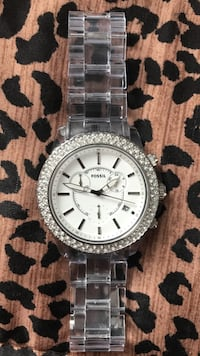 Fossil clear band watch Pick up only