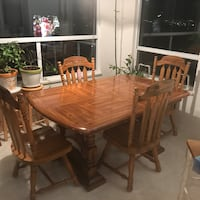 Brown wooden dining table set Coquitlam, V3E 3C4