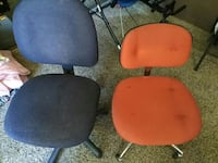 Blue & Red Swivel Chairs