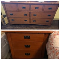Real wood dresser AND two night stands Austin, 78759