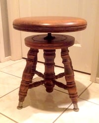 Authentic antique piano stool: *must see all 5 photos*late19thcentury(1890s)purchased in 1975 at antique show at the rancho bernardo inn; a charming, functional piece of history; lovely accessory fits any decor San Diego, 92131