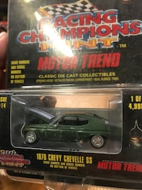 1970 green Racing Champions Chevy Chevelle SS classic die cast collectibles box La Puente, 91744