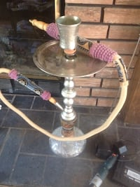 Silver and pink hookah Burke, 22015