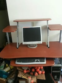 white and brown wooden computer desk Price, 84501