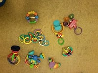 assorted-color plastic toy lot 41 km