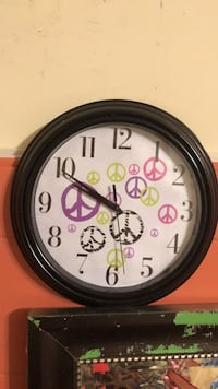 round black and white analog wall clock Gaithersburg, 20882