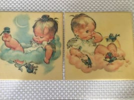 Pair of Vintage Pete Hawley Wall Hangings