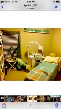 Esthetic facial machine and bed/ massage table and chair with bedding Mission, 78574