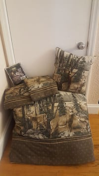 brown and gray floral fabric sofa chair Miami