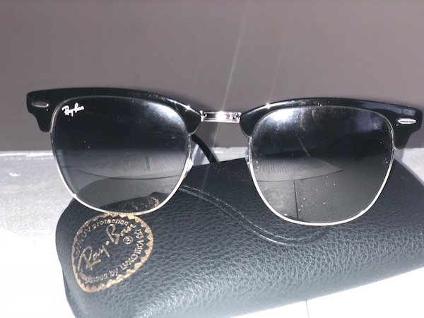 cea4f4a91ff32 Used (MUST PICKUP TONIGHT) CUSTOM RAYBAN SILVER CLUBMASTERS! for sale in  San Francisco - letgo