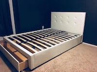 Brand new full or queen bed frame with storage