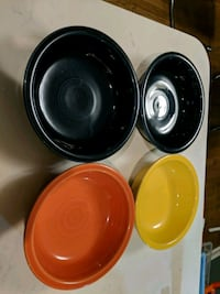 "Fiestaware  7"" bowls x 4 Centreville, 20120"