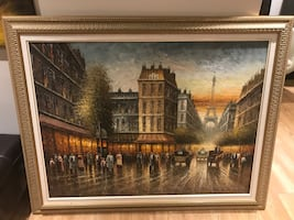 Paris scene wall art.