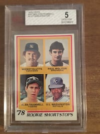 1978 Rookie shortstops in Excellent Condition Graded by Beckett at a 5. Spartanburg, 29303