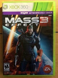 Mass Effect 3 Xbox 360 game case