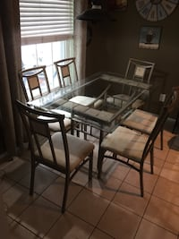 Rectangular glass top table with four chairs dining set Orlando, 32821