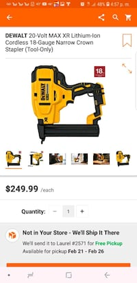 yellow and black Dewalt power tool screenshot Laurel