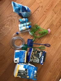 10 gallon fish tank and tank plants, food, gravel, and more Chantilly, 20152