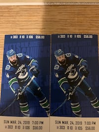 Canucks vs Columbus Sun Mar 24 New Westminster, V3M 2N2