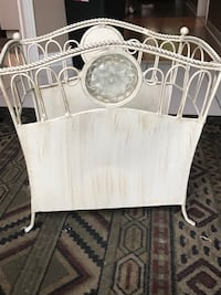Magazine rack or can use to store toilet paper in